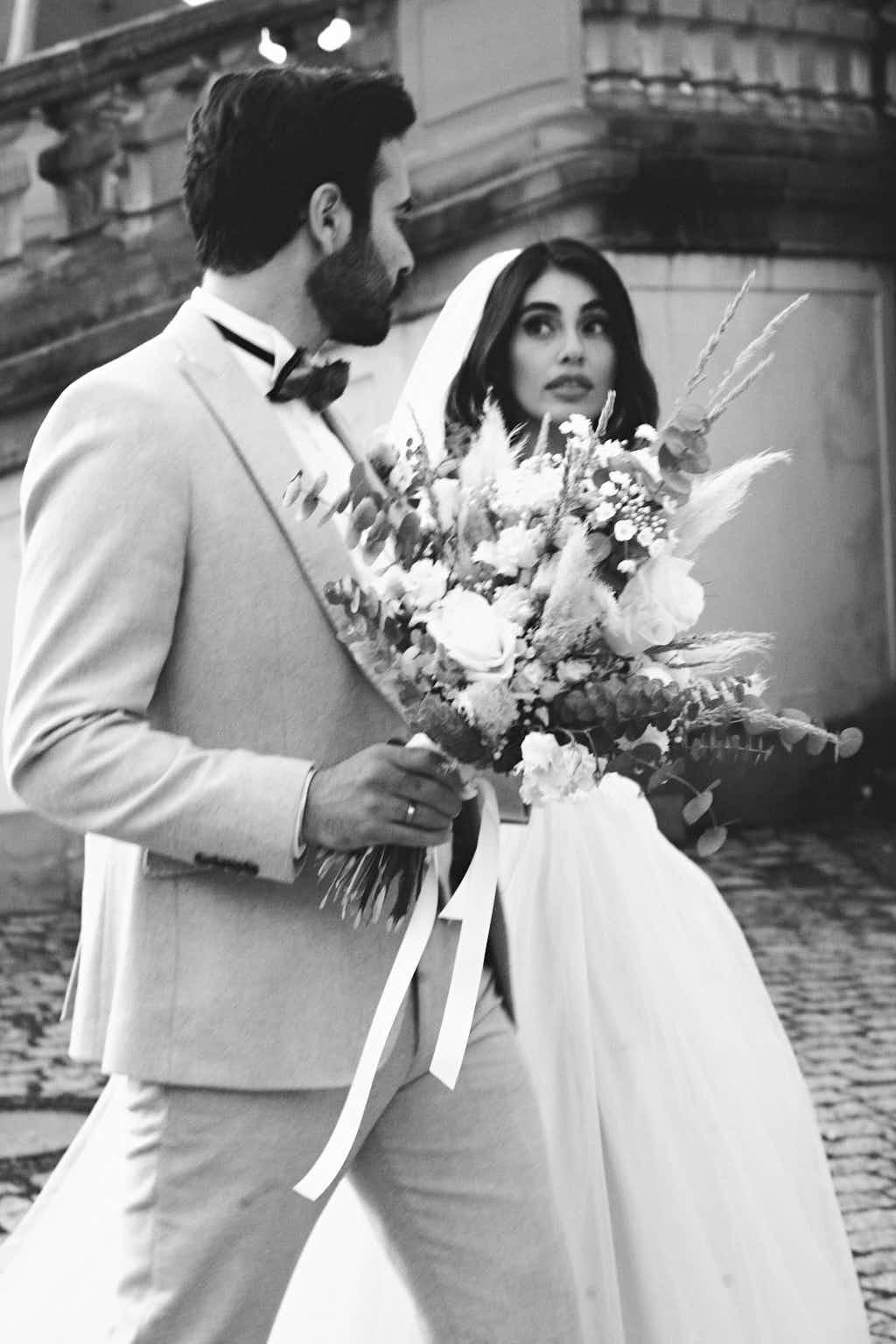 Brautpaar bei Hochzeit auf Schloss Solitude Stuttgart